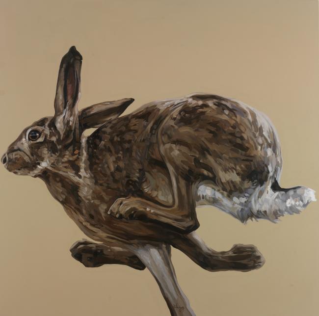 18. Hare Running Left 35.5 x 35.5.jpg